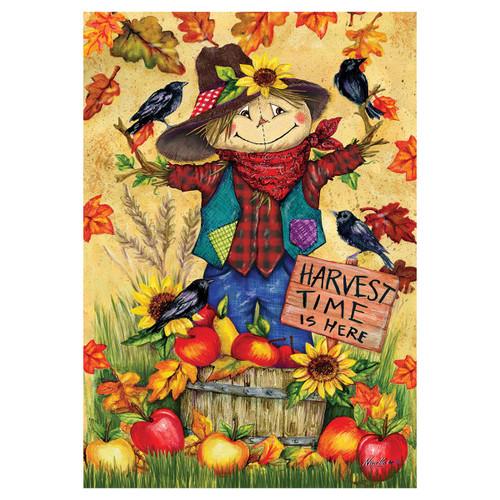 Fall Garden Flag - Scarecrow & Apples