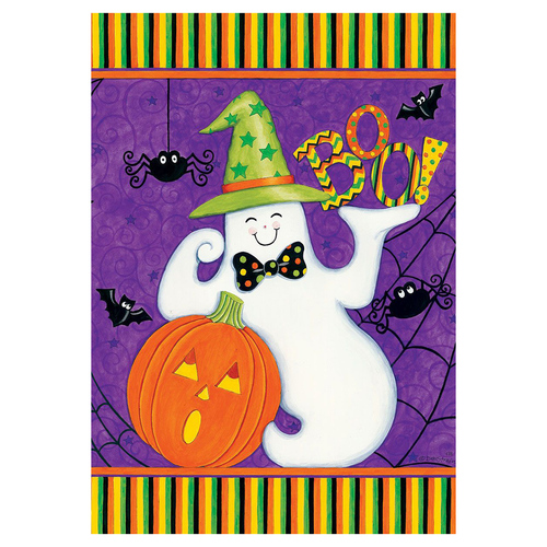 Halloween Garden Flag - Friendly Ghost