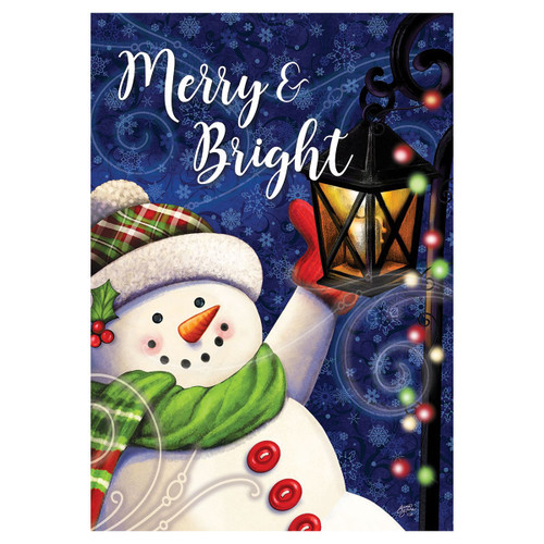 Winter Garden Flag - Merry & Bright