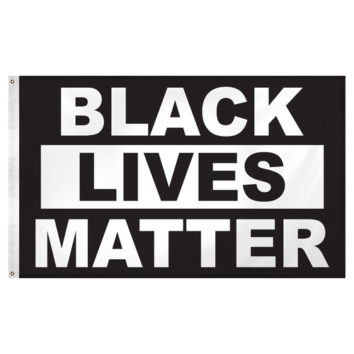 Black Lives Matter Flag 3ft x 5ft Super Knit Polyester