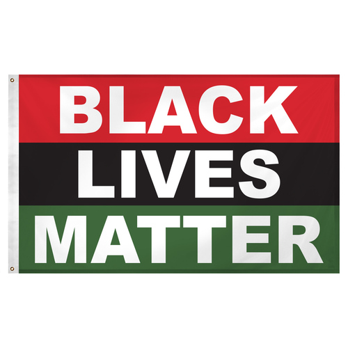 BLM Black Lives Matter Flag 3ft x 5ft Super Knit Polyester
