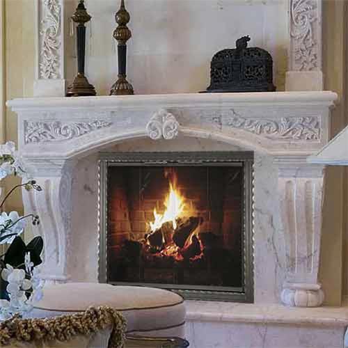 Chateau Roman Custom Masonry Fireplace Door
