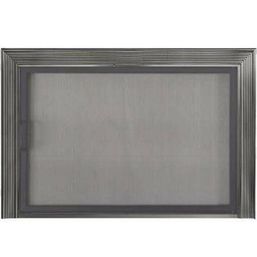 Decor Twin Panel Mesh Stock Fireplace Door