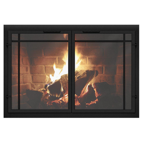 Normandy Contemporary Custom Masonry Fireplace Door