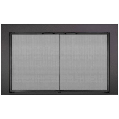 Reserve Twin Panel Mesh Stock Fireplace Door