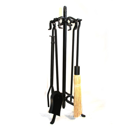 5 Piece Heavy Weight Black Wrought Iron