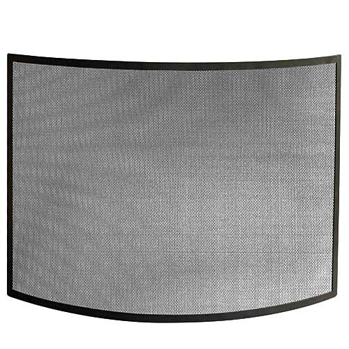 Black Bowed Fireplace Screen