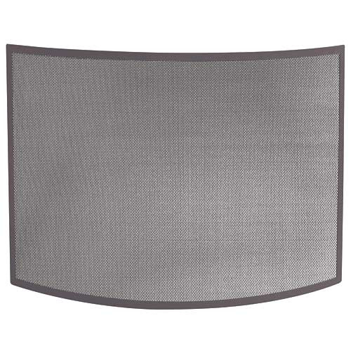 Bowed Bronze Fireplace Screen