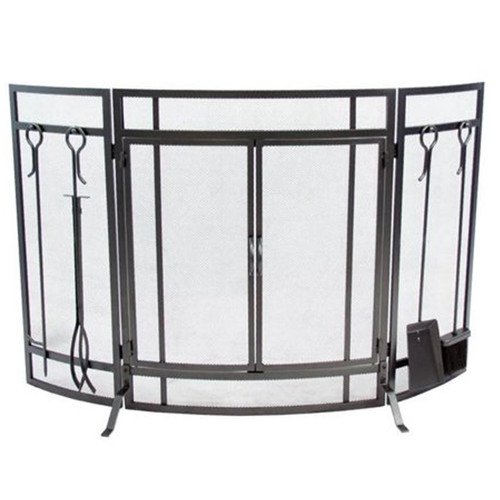 3 Panel Curved Screen with Doors
