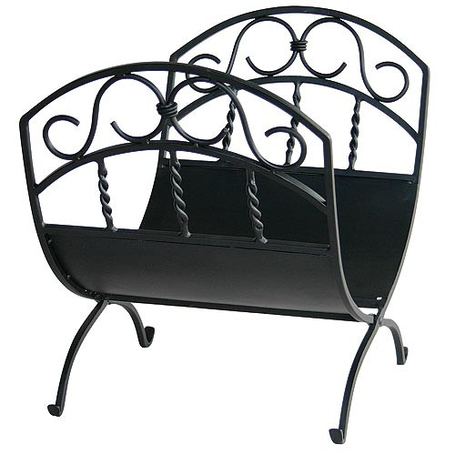 Wrought Iron Log Rack - Black