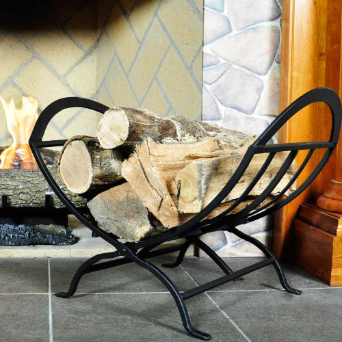 Black Wrought Iron Log Holder