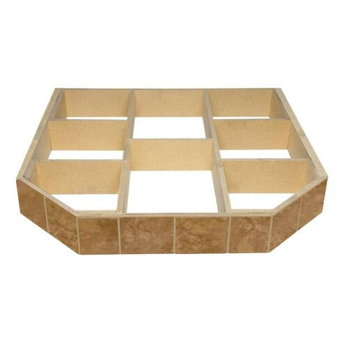 WoodEze Buttercup Brie Double Cut 40'' x 40'' Hearth Pad Riser