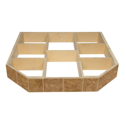 WoodEze Buttercup Brie Double Cut 48'' x 48'' Hearth Pad Riser