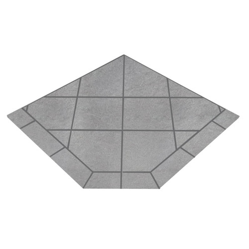Kalmia Reed 40'' x 40'' Single Cut Corner Hearth Pad