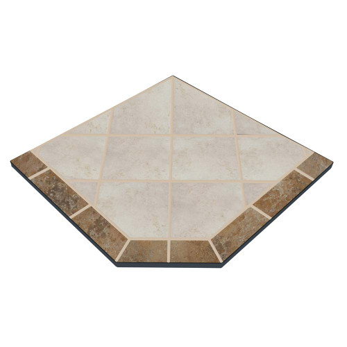 Sea Breeze 40'' x 40'' Single Cut Corner Hearth Pad