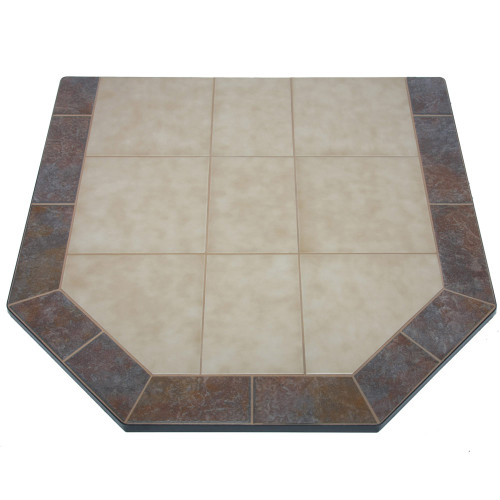 Aurora Eve 40'' x 40'' Double Cut Hearth Pad