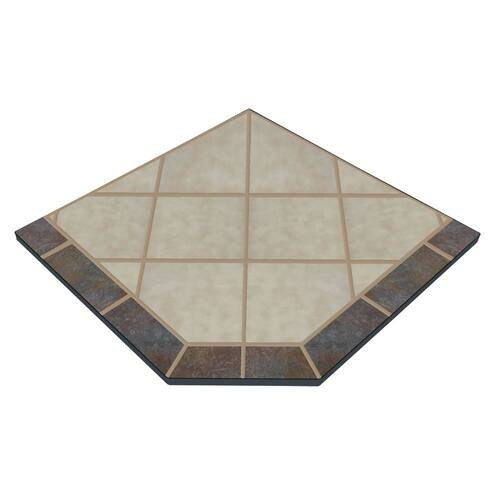 Aurora Eve 48'' x 48'' Single Cut Corner Hearth Pad