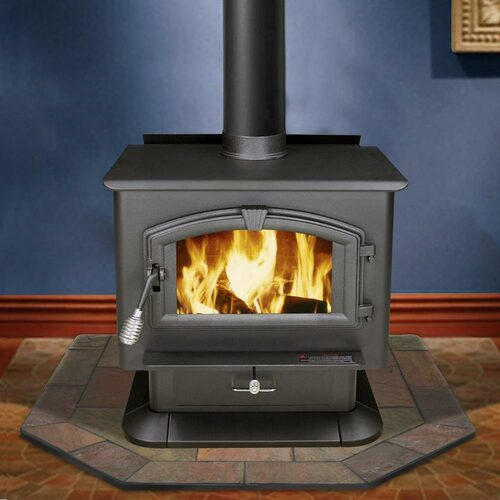 Natural Bone Slate 40'' x 40'' Double Cut Hearth Pad