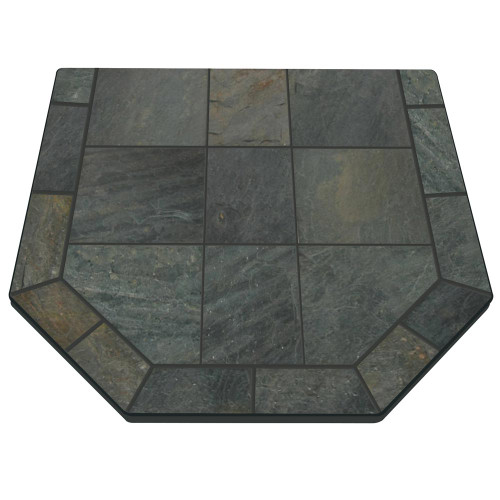 Natural Smokey Slate 40'' x 40'' Double Cut Hearth Pad