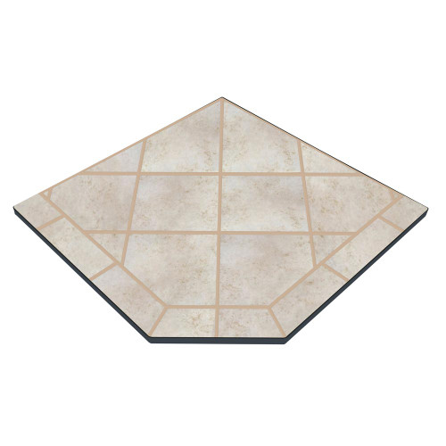 Champagne Cork 40'' x 40'' Single Cut Corner Hearth Pad