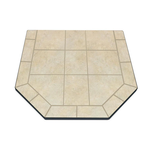 French Camellia 40'' x 40'' Double Cut Hearth Pad
