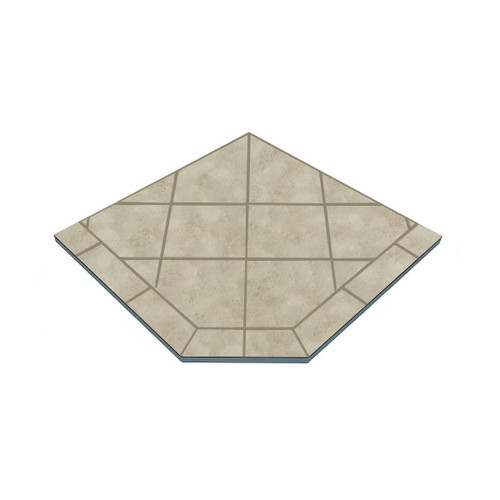 Winter Lush 48'' x 48'' Single Cut Corner Hearth Pad
