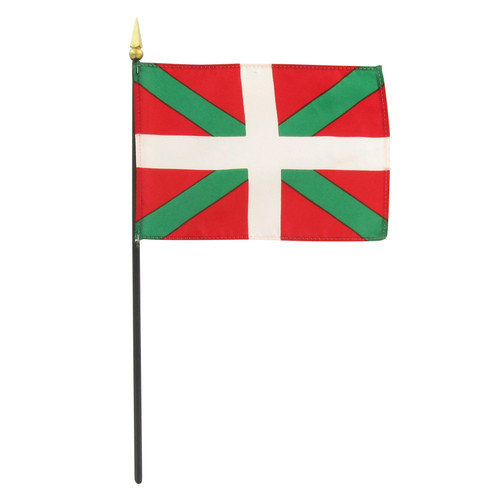 "Basque Lands 4"" x 6"" Stick Flag"