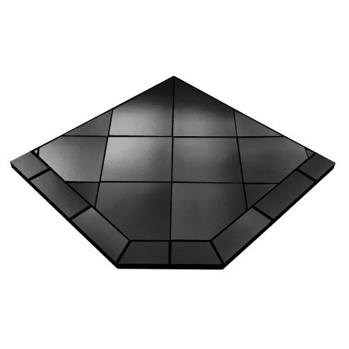 Black Kindle 40'' x 40'' Single Cut Corner Hearth Pad
