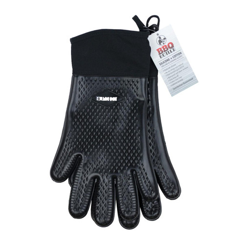 Cloth Lined Silicone Grilling Gloves