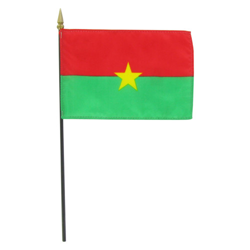 "Burkina 4"" x 6"" Stick Flag"