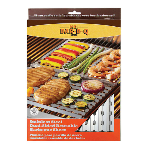 Mr. Bar-B-Q Stainless Steel Dual-Sided Barbecue Sheet