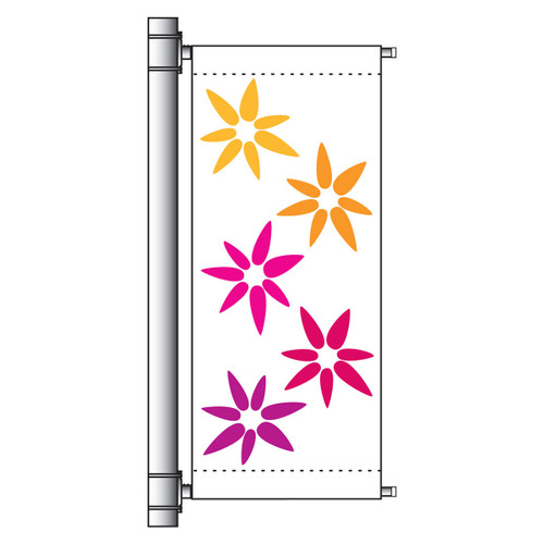 Deluxe Single Banner Arm Mounting Kits - 24in