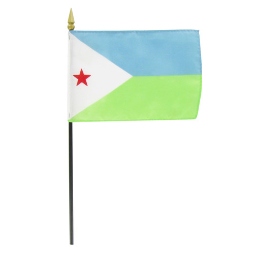 "Djibouti 4"" x 6"" Stick Flag"