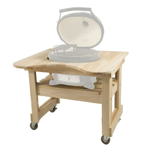 Cypress Compact Table for Oval XL Primo Grill