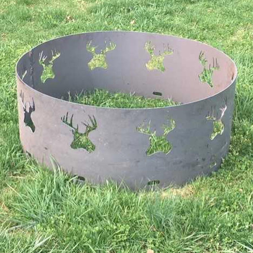 Deer Head Fire Pit Ring- 30 Inch