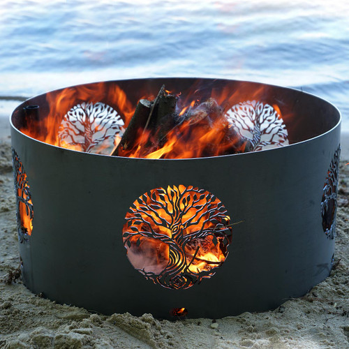 Tree of Life Fire Pit Ring- 30 Inch