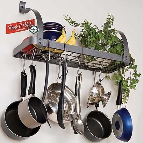 Rack it Up Bookshelf Pot Rack