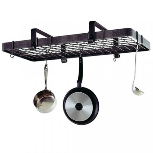 Low Ceiling Rectangle Rack-Hammered Steel