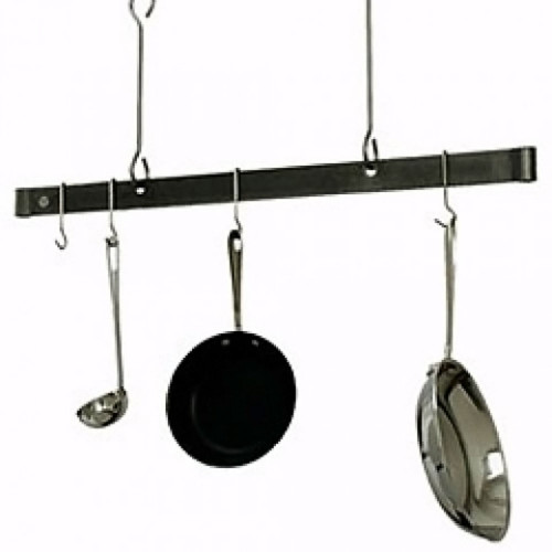48'' Offset Hook Ceiling Bar Rack-Hammered Steel