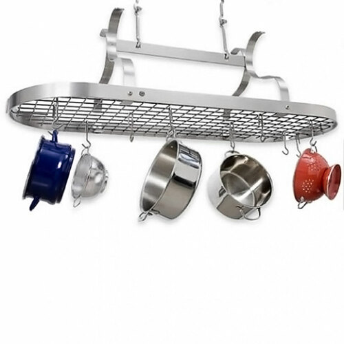 Oval Scroll Arm Rack-Stainless Steel