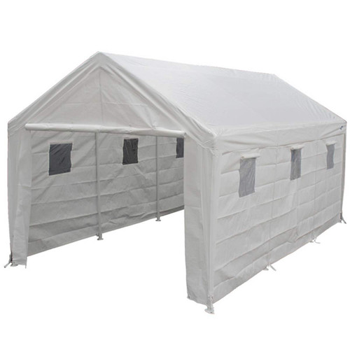 King Canopy 10' x 20' White 8 Leg Enclosed Canopy