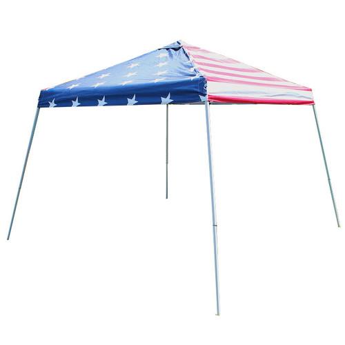 King Canopy  USA Flag 10' x 10' Tent