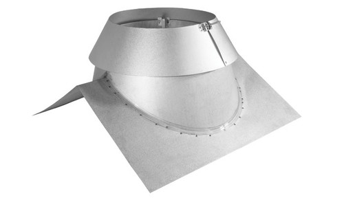 """6"""" Secure Temp Peak Roof Flashing 8/12-12/12 Pitch With Storm Collar"""