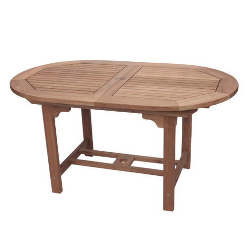 Small Teak Oval Expansion Table