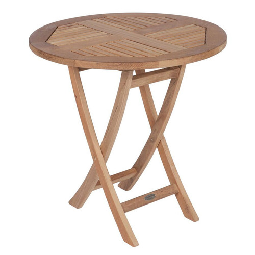 "30"" Round Teak Sailor Folding Table"