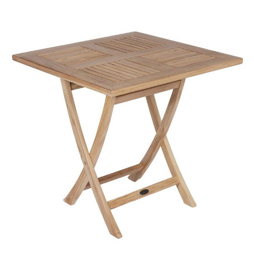 "30"" Square Teak Sailor Folding Table"