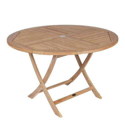 "47"" Round Teak Sailor Folding Table"