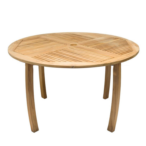 "50"" Round Teak Dolphin Table"