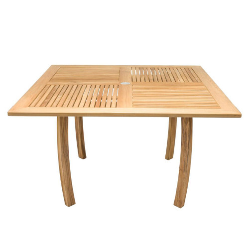 "50"" Teak Square Dolphin Table"
