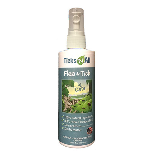 Flea & Tick Repellent for Cats- 8 oz